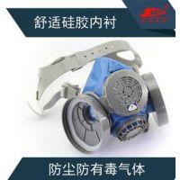 思创防毒面具半面罩硅胶ST-M60-1双滤盒防尘防毒油漆农药化工异味