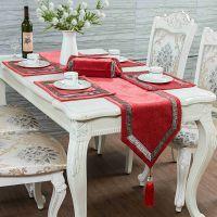 欧式迷宫桌旗厂家 现代中式绣花桌旗一件代发 台布桌旗批发