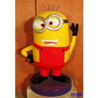 大型玻璃钢大黄人雕塑商场美陈卡通可爱树脂公仔玩偶摆件