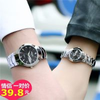 情侣手表男女士韩版简约夜光时尚防水学生石英自动机非械表一对价