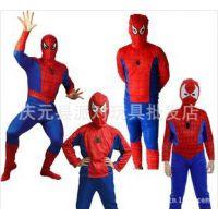 万圣节儿童服装 厂家儿童成人 分体连体 蜘蛛侠服装套装衣服