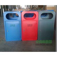 供应户外商业街钢制分类垃圾桶