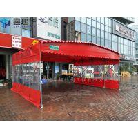 天津市南开区订制排挡遮阳雨棚布、挡雨夜市夜宵帆布帐篷_可推拉