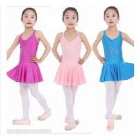 新款季新款发布儿童双吊带舞蹈体操练表演服多色可批发