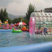 安徽小型水上游乐园充气滚筒球TPU复合材料水上滚筒厂家
