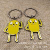 厂家定制日式卡通动漫金属钥匙扣 钥匙圈小黄人饰品钥匙扣 批量产