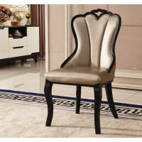 高档酒店包房欧式实木餐椅定制水曲柳桦木椅子