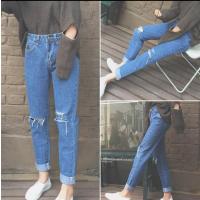 中山哪里有便宜牛仔裤时尚库存尾货牛仔裤处理几块钱小脚裤批发