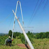 铝合金立杆机8-12米铝合金扒杆15米立杆设备华翔牌