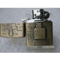 D02-233-1火机装备机芯青铜浮雕煤油打火机批发广告礼品厂家直销