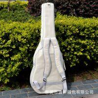 高档民谣吉他包加绵木吉他包白色高密度民谣14寸吉他包双立体兜