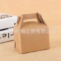 厂家直销牛皮纸折叠包装纸盒 手提优质食品包装纸盒 量大价优