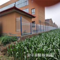 市政园艺花坛护栏 草坪护栏园林塑钢护栏 钢制绿化带草坪锌钢护栏