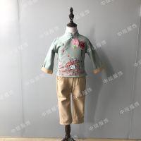 中国风男童女童唐装套装走份批发