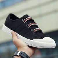 新款男式帆布鞋贝壳头青年潮鞋透气运动休闲男鞋帆布鞋一件代发