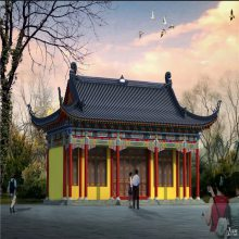 湖南古建牌楼、长沙古建斗拱亭子,湘潭仿古牌坊,古建筑彩绘