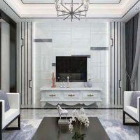 电视背景墙瓷砖现代简约客厅3D微晶石装饰墙砖仿大理石影视墙造型