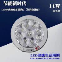 LED应急吸顶灯带EPS强启功能蓄电池声控人体感应灯走廊过道8-12W