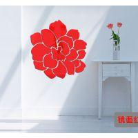 3d亚克力水晶立体镜面墙贴拼接花朵卧室客厅玄关餐厅电视墙装饰画