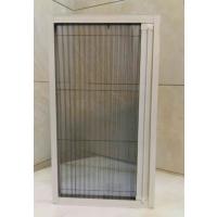 专业定做铝合金折叠推拉纱门,隐形折叠纱门