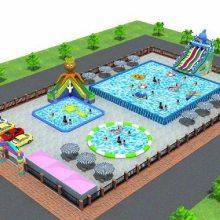 大型充气游泳池-成人支架游泳池专业订制老厂