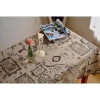 咖啡厅酒吧网咖桌面盖布台布装饰棉麻布艺美式loft工业风地图桌布