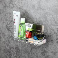 H509浴室不锈钢置物架 免打孔厨房卫生间收纳架厕所壁挂架子