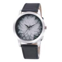 韩版时尚百搭 OKTIME皮带莲花时装手表女表小清新学生手表批发