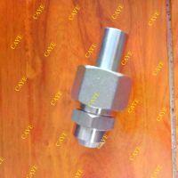 不锈钢24度锥密封C-AS焊接式直通接头加卡套 1CW轻型高压管件