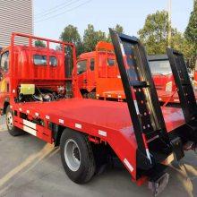 重汽小蓝牌挖机拖车 豪曼蓝牌运输5-10吨小型平板车价格