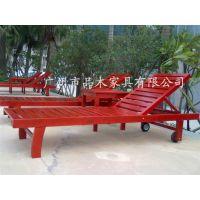 工厂供应品木旅游区沙滩躺椅 酒店泳池躺椅