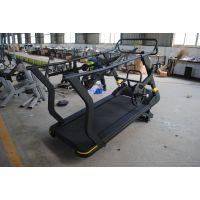 健身房专用带配重无动力跑步机厂家/美能达健身器材