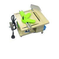 大功率DIY玉石切割机 小台锯 小型电锯 玉石切割机 微型台磨