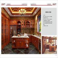 广州橱柜厂家直销整体实木厨房橱柜定制 出口美式橱柜 量尺设计