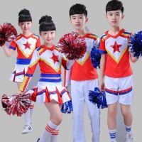 2017新款健美操舞蹈比赛服装新款儿童啦啦操演出服男女童拉拉队服