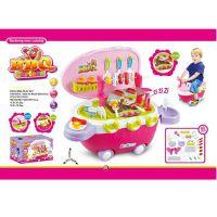 【双11特惠】过家家玩具烧烤船学步车BBQ儿童餐具迷你仿真烧烤