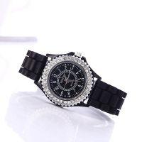 现货供应日内瓦geneva镶钻硅胶手表 女士硅胶手表 学生运动手表
