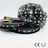 LED5050RGB全彩软灯带60灯低压12v幻彩柔性灯条WS2811黑面板灯珠