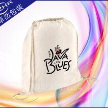 定制棉帆布束口穿绳袋 音乐琴行乐器配件收纳包 抽绳购物礼品袋