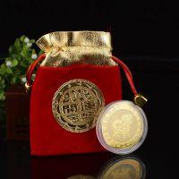 工艺礼品厂家直代销狗年开运创意金币保险红包定制年货大礼包