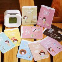 淘宝赠品 可爱妞子卡套手绘韩版卡通可爱小女孩双面2位卡套批发