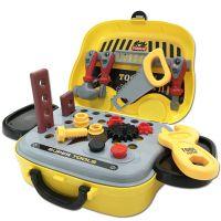 跨境货源儿童过家家玩具 早教仿真多功能维修工具收纳手提箱套装