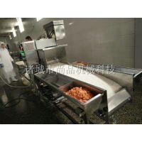 冷冻食品上浆油炸机 黑椒鸡块裹浆裹面包糠油炸流水线