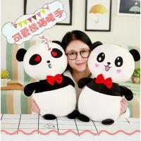 厂家直销 卡通熊猫暖手公仔毛绒玩具熊猫暖手捂抱枕靠垫抱抱熊
