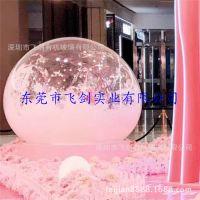 飞剑亚克力工厂现货出售大型圣诞透明球罩 美陈装饰水晶玻璃球 亚克力装饰球