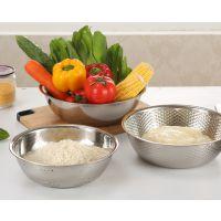 无磁不锈钢米筛三件套洗菜淘米打蛋盆沥水盆厨房多用套盆特价
