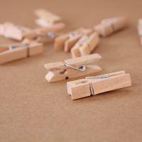 D07-26 大量现货 照片墙 本色木制小夹子 DIY原木色小木夹3.5CM
