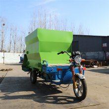 电动喂牛撒料车环保绿色 高品质值得信赖撒料车 颜色大小可定养殖车