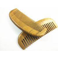 厂家正品大号加厚绿檀木梳天然绿檀木月形梳子礼物保健按摩月牙梳