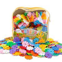 儿童宝宝益智玩具早教雪花片积木加厚塑料拼插幼儿园学习